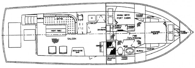 Grand Banks 42 Motoryacht Layout