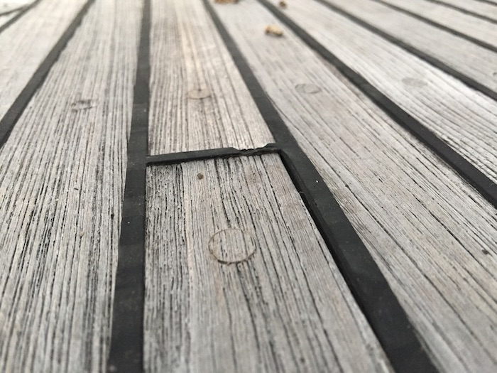 Worn Wooden Deck