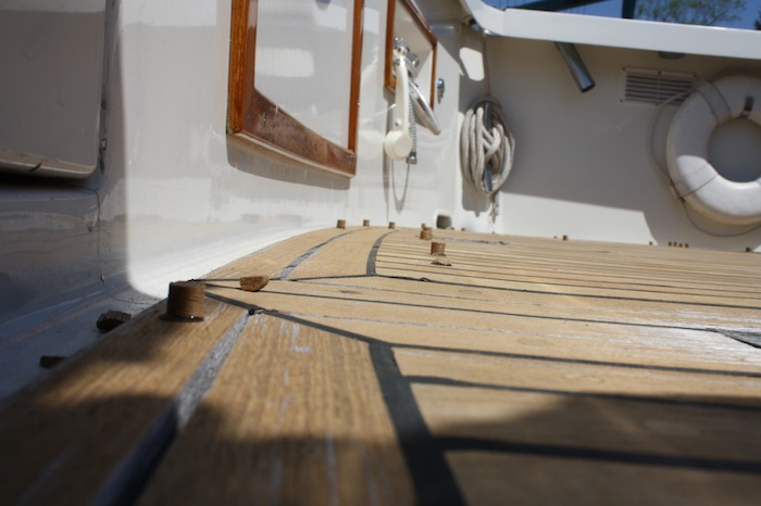 Grand Banks New Teak Deck Installation